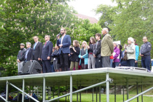 Mai 2017: Abschlusskundgebung zum Schluss des Versöhnungsmarsches