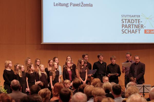 Festakt im Rathaus Stuttgart: Chorauftritt